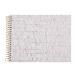 Gästebuch Spirale Weiß Guestbook