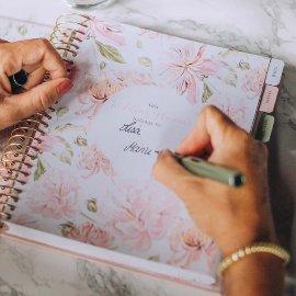 Hochzeitsplaner Spirale Rosé