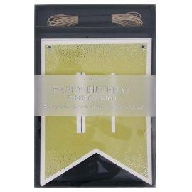 Papiergirlande Happy Birthday Grün