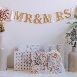 Papiergirlande Mr. & Mrs. Hochzeit