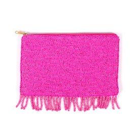 Perlentasche Clutch Pink