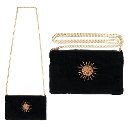 Clutch Handtasche Crossover Sonne Stickerei