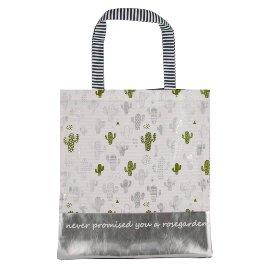 Shopper Lieblingstasche Kaktus Silber