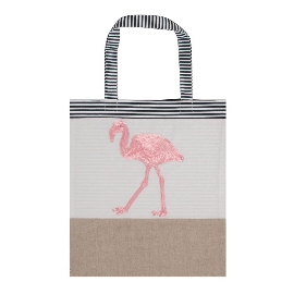 Shopper Lieblingstasche Flamingo Pailletten