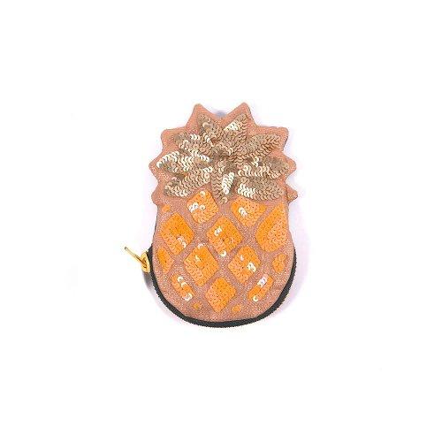 Münztasche Ananas Pailletten