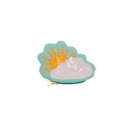 Münztasche Wolke Pailletten