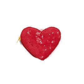 Münztasche Herz Pailletten
