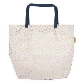 Maxi Bag Pünktchen Weiß Gold