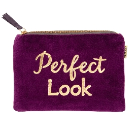 Kosmetiktasche Samt Perfect Look Lila