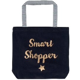Shopperbag Samt Smart Shopper Schwarz