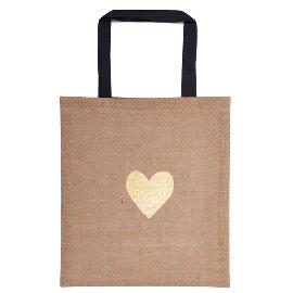 Shopper Lieblingstasche Organics Jute Herz