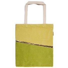 Shopper Lieblingstasche Samt Grün