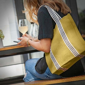 Shopper Bag Organics Jute Light Olive