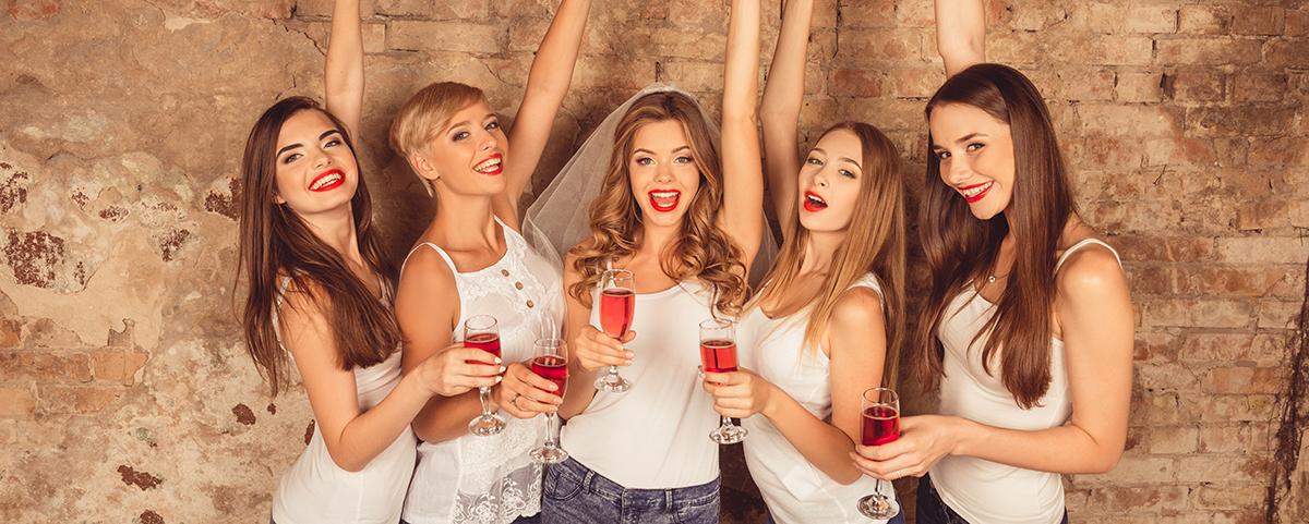 JGA Ideen Wein Sekt Mädelsabend