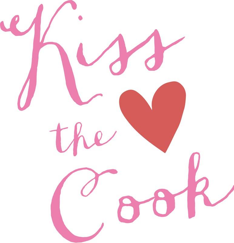 Serviette Witzig Herz Kiss the cook