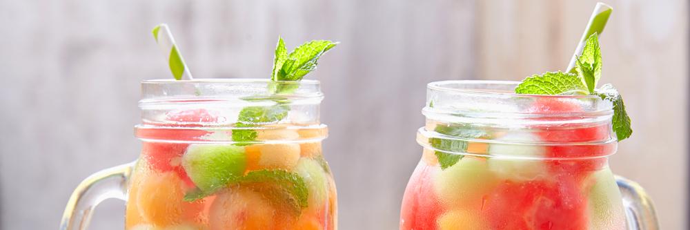 Cocktail Alkoholfrei Melone Erfrischung Gartenparty