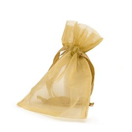 organza bag/9x12cm/gold