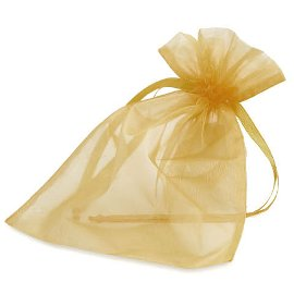 Organza bag gold large