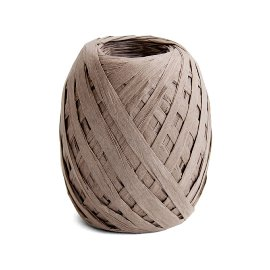 ribbon/crepe paper/grey/45m/brown
