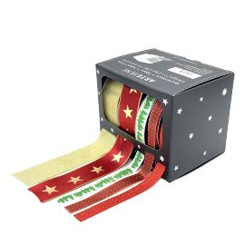 Ribbon box stars Christmas trees