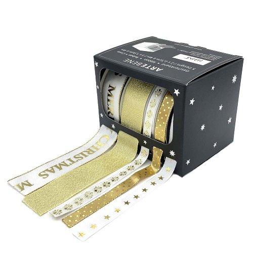 Geschenkbänder-Box Christmas Sterne
