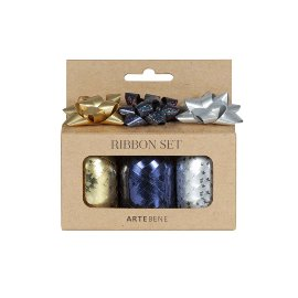 Ribbon set gold blue silver