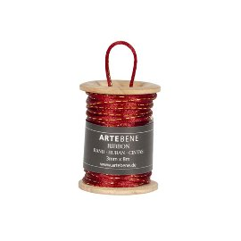 Silk cord red gold