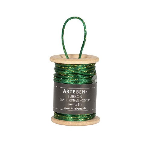 Silk cord green gold