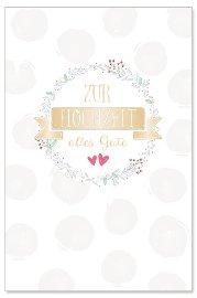 Hochzeitskarte Alles Liebe