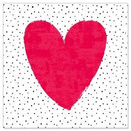 Minikarte Herz Rot
