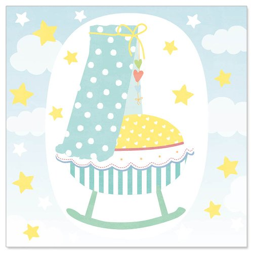 Minikarte Baby Wiege