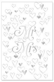 Hochzeitskarte Mr. und Mrs.