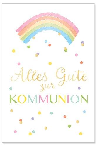 Kommunionskarte Regenbogen