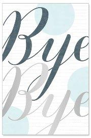 Abschiedskarte Bye Bye