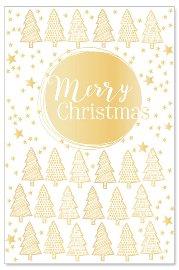 Grußkarte Merry Christmas Tannenbäume