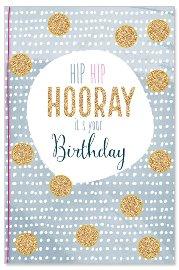 Geburtstagskarte Hooray