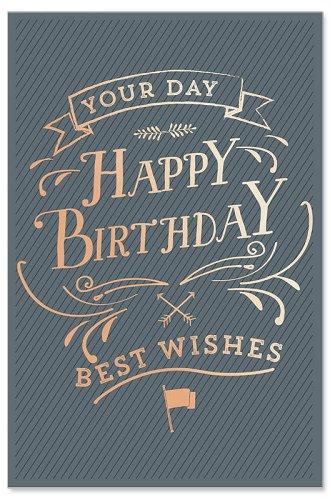 Geburtstagskarte Best Wishes