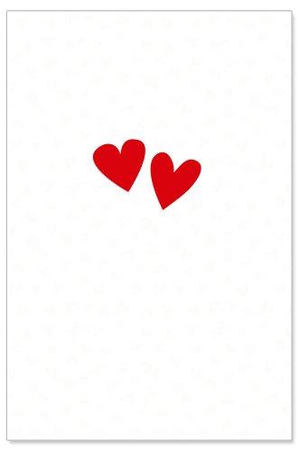 Hochzeitskarte Herz Stickerei