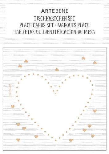 Tischkärtchen 10er Set Herz