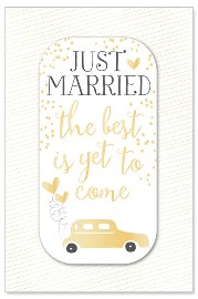 Hochzeitskarte Auto Just Married