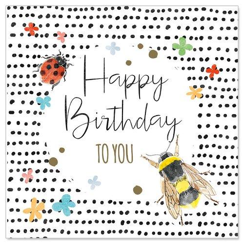 Minikarte Geburtstag Biene