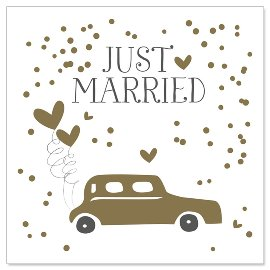 Minikarte Hochzeit Auto