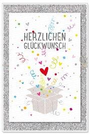 Geburtstagskarte Paket Glückwunsch Glitter