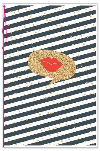Grußkarte Kussmund Glitter