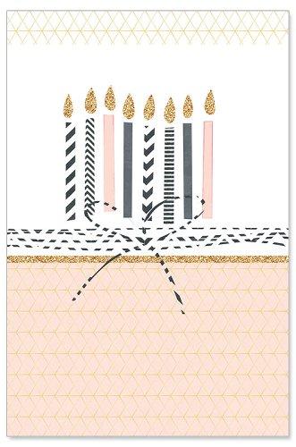Geburtstagskarte Kerzen