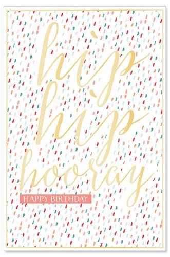 Geburtstagskarte Hip Hip Hooray