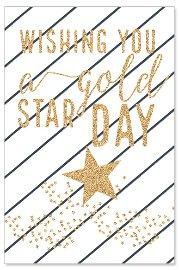 Geburtstagskarte Wishing You a Gold Star Day