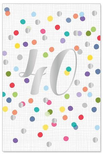 Geburtstagskarte Konfetti 40 Jahre