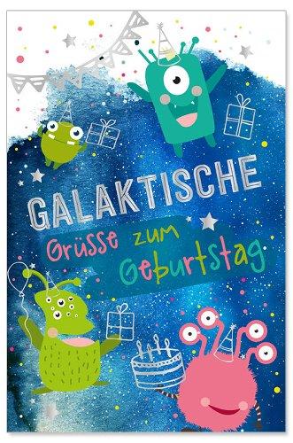 Geburtstagskarte Kids Galaktische Grüße