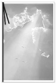 Trauerkarte Wolken